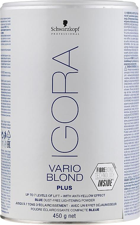 Lightening Powder - Schwarzkopf Professional Igora Vario Blond Plus