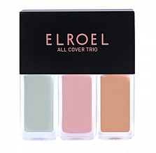 Fragrances, Perfumes, Cosmetics Concealer - Elroel All Cover Trio