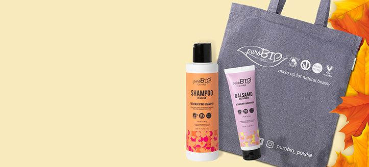 Buy PuroBio Cosmeticts products for the amount of £15 or more and get a free shopping bag