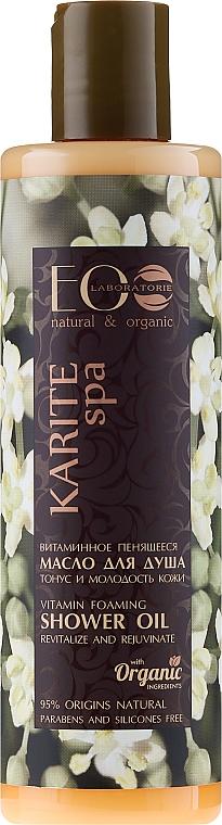 "Shower Vitamin Foaming Oil ""Skin Tonus and Youthfulness"" - ECO Laboratorie Karite SPA Shower Oil"