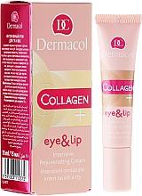 Fragrances, Perfumes, Cosmetics Intensive Rejuvenating Eye and Lip Cream - Dermacol Collagen+ Eye & Lip Cream