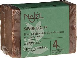 Fragrances, Perfumes, Cosmetics Soap - Najel 4% Aleppo Soap