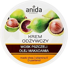 Fragrances, Perfumes, Cosmetics Beeswax and Macadamia Oil Nourishing Cream - Anida Pharmacy Nourishing Cream