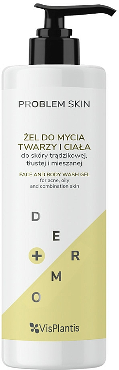 Face and Body Gel - Vis Plantis Problem Skin Face And Body Wash Gel