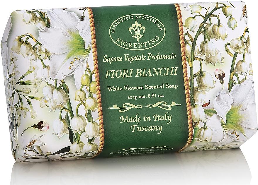 """Natural Soap """"White Flowers"""" - Saponificio Artigianale Fiorentino White Flowers Scented Soap"""