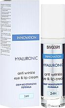 Fragrances, Perfumes, Cosmetics Hyaluronic Anti-Wrinkle Lip and Eye Cream with Deep Moisturizing Formula - BingoSpa Hyaluronic Anti Wrinkle Eye & Lip Cream