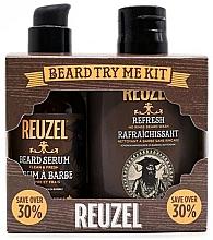 Fragrances, Perfumes, Cosmetics Set - Reuzel Clean & Fresh Beard Try Me Kit (serum/50g + shampoo/100ml )