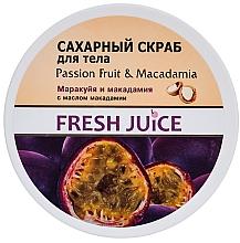 "Fragrances, Perfumes, Cosmetics Sugar Body Scrub ""Passion Fruit and Macadamia"" - Fresh Juice Passion Fruit & Macadamia"
