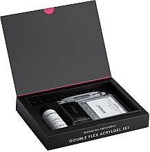 Fragrances, Perfumes, Cosmetics Set - Semilac Set Double Flex Acrylgel Set Nude Peach (nail/gel/60ml + tips/120pcs + gel/liquid/125ml + acc.)