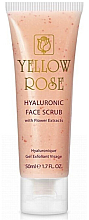 Fragrances, Perfumes, Cosmetics Hyaluronic Acid & Flower Extracts Scrub - Yellow Rose Hyaluronic Face Scrub
