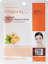 Fragrances, Perfumes, Cosmetics Collagen and Apricot Extract Mask - Dermal Apricot Collagen Essence Mask