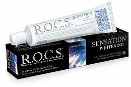 """Fragrances, Perfumes, Cosmetics Toothpaste """"Sensation Whitening"""" - R.O.C.S.."""