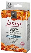 Fragrances, Perfumes, Cosmetics Damaged Hair Kit - Farmona Jantar Hot Treatment For Dry And Brittle Hair (h/mask/17ml + shmp/15ml + balm/5ml + cap)