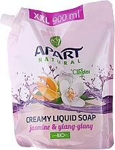 """Fragrances, Perfumes, Cosmetics Liquid Soap """"Jasmine & Ylang Ylang"""" - Apart Natural Jasmine & Ylang Ylang Soap (doypack)"""