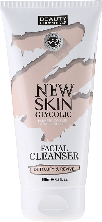 Facial Cleanser - Beauty Formulas New Skin Glycolic Facial Cleanser