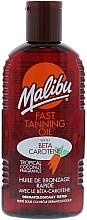 Fragrances, Perfumes, Cosmetics Fast Tanning Oil - Malibu Fast Tanning Oil with Carotene