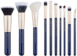 Fragrances, Perfumes, Cosmetics Makeup Brush Set, T483, 10 pcs - Jessup