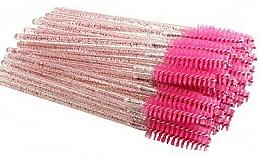 Fragrances, Perfumes, Cosmetics Disposable Lash & Brow Brushes, hot pink - Deni Carte