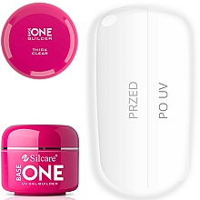 Fragrances, Perfumes, Cosmetics Nail Extension Gel - Silcare Base One Thick Clear