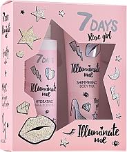 Fragrances, Perfumes, Cosmetics Set - 7 Days Illuminate Me Rose Girl (b/milk/150ml + mist/180ml)