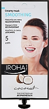 Fragrances, Perfumes, Cosmetics Face Mask - Iroha Nature Smoothing Coconut Creamy Mask