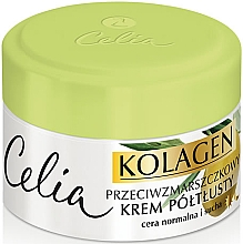 Fragrances, Perfumes, Cosmetics Rich Anti-Wrinkle Face Cream for Normal and Dry Skin - Celia Collagen Cream