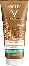 Fragrances, Perfumes, Cosmetics Moisturizing Face & Body Sun Milk - Vichy Capital Soleil Solar Eco-Designed Milk SPF 50+
