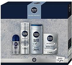 Fragrances, Perfumes, Cosmetics Set - Nivea Men Silver Protect 2020 (balm/100ml + foam/200ml + shower/gel/250ml + deo/50ml)