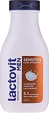 Fragrances, Perfumes, Cosmetics Shower Gel for Men 3 in 1 - Lactovit Men Sensitive 3v1 Shower Gel