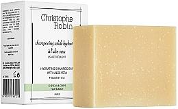 Fragrances, Perfumes, Cosmetics Aloe Vera Shampoo Bar - Christophe Robin Hydrating Shampoo Bar with Aloe Vera