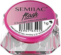 Fragrances, Perfumes, Cosmetics Nail Mirror Powder - Semilac Flash Sunlight Effect