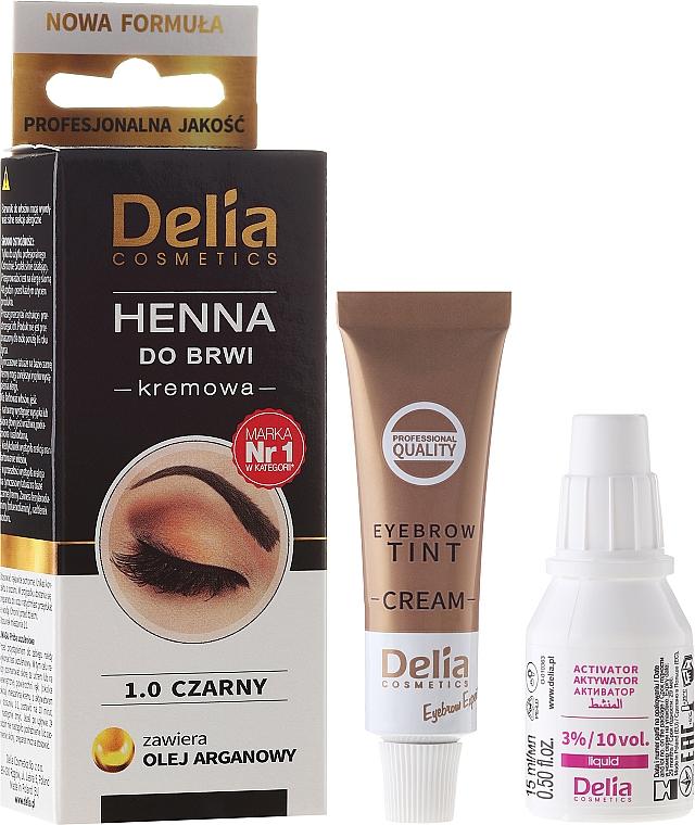 Brow Cream-Dye - Delia Cosmetics Cream Eyebrow Dye
