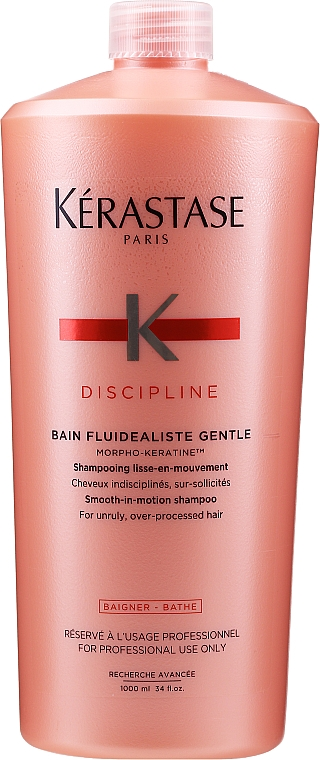 Smoothing Sulfate-Free Bath Shampoo for Unruly Hair - Kerastase Discipline Bain Fluidealiste Smooth-in-Motion Shampoo Sans Sulfates