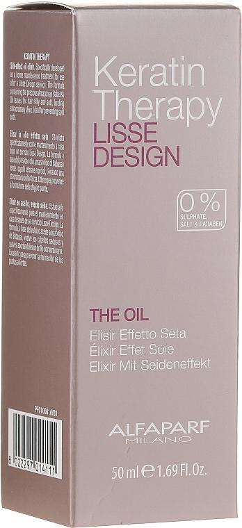 Keratin Hair Oil - Alfaparf Lisse Design Keratin Therapy Oil