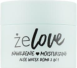 Fragrances, Perfumes, Cosmetics Moisturizing Gel for Face, Neck and Decollete - FlosLek ZeLove Moisturizing Aloe Water Bomb 2in1