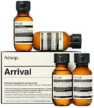 Fragrances, Perfumes, Cosmetics Set - Aesop Arrival Travel Kit (shm/50ml + cond/50ml + sh/gel/50ml + balm/50ml)