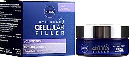 Fragrances, Perfumes, Cosmetics Anti-Aging Night face Cream - Nivea Hyaluron Cellular Filler Night Cream
