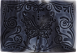 Fragrances, Perfumes, Cosmetics Activated Carbon Soap Bar, butterfly - Wooden Spoon Bar Soap