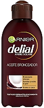 Fragrances, Perfumes, Cosmetics Intensive Tanning Oil with Coconut Scent - Garnier Delial Ambre Solaire Intense Suntan Coco Oil