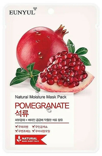 Facial Pomegranate Sheet Mask - Eunyul Natural Moisture Pomegranate Mask