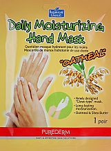 Fragrances, Perfumes, Cosmetics Hand Gloves Mask - Purederm Daily Moisturizing Hand Mask Oatmel