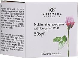 Fragrances, Perfumes, Cosmetics Moisturizing Face Cream SPF 50 - Hristina Cosmetics Moisturizing Face Cream With Bulgarian Rose SPF50