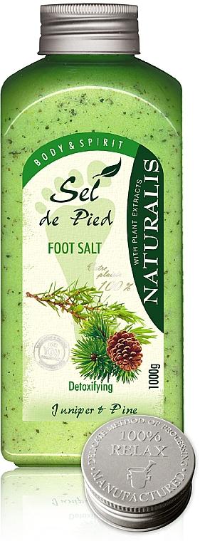 Foot Salt Bath - Naturalis Sel de Pied Juniper And Pine Foot Salt