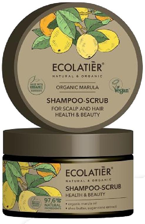 "Hair & Scalp Shampoo-Scrub ""Health & Beauty"" - Ecolatier Organic Marula Shampoo-Scrub"