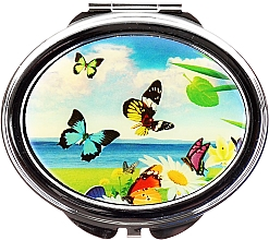 "Fragrances, Perfumes, Cosmetics Cosmetic Mirror ""Butterflies"", 85451, butterflies & sea - Top Choice"
