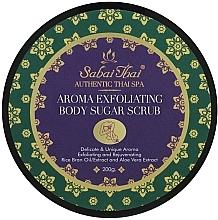 Fragrances, Perfumes, Cosmetics Body Scrub with Rice Bran Oil and Aloe Vera - Sabai Thai Rice Milk Aroma Exfoliating Body Sugar Scrub