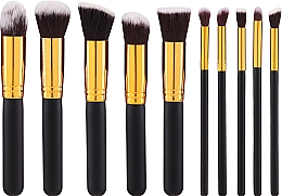 Fragrances, Perfumes, Cosmetics Makeup Brush Set, 10pcs - Fascination