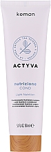Fragrances, Perfumes, Cosmetics Conditioner for Slightly Dry Hair - Kemon Actyva Nutrizione Cond