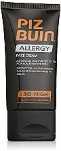 Fragrances, Perfumes, Cosmetics Facial Sun Cream - Piz Buin Allergy Face Cream SPF30