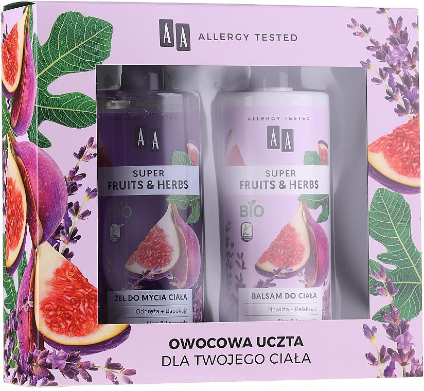 Set - AA Super Fruits&Herbs Set (sh/gel/500ml + b/lot/500ml)